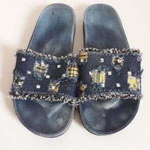 Shoes - Denim Slides